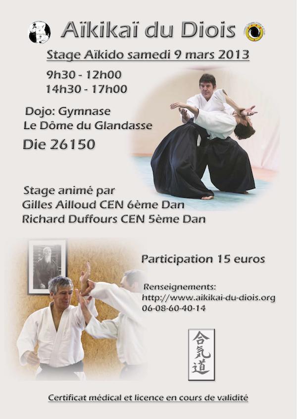 affiche stage aikido 9 mars 2013